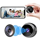 Mini Spy Camera WiFi Hidden Camera with Audio Live Feed Home Security Camera, Wireless Nanny Cam with Motion Detection Night Vision Remote Control on Android iOS and PC