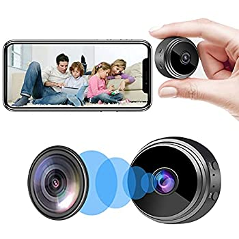 Camera Hidden Home Security Camera WiFi Mini Spy Camera Video Recorder with Audio Nanny Cam with Motion Detection Night Vision Remote Control on App
