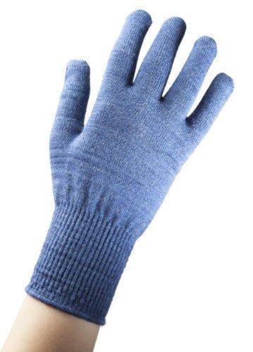 Fibratos lana Merino Guantes forro térmico - azul - pasos