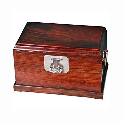 JISHIYU-Q Joyería de la caja de almacenaje, caja de almacenaje antiguos, Caja de almacenamiento con la cerradura, la vendimia creativa del regalo de cumpleaños rojo del palo de rosa, joyería caja de r