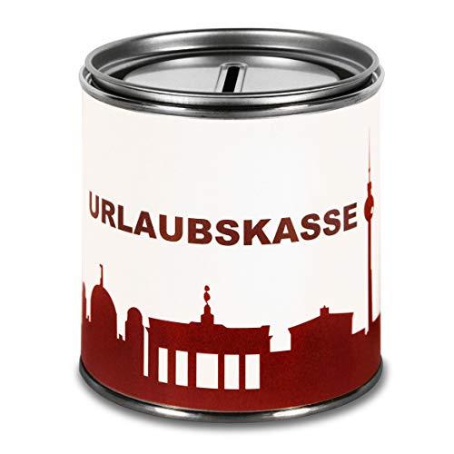 44spaces Spardose Berlin Geldgeschenke Urlaubskasse - Witzige Geschenkdose Geldgutschein Geldverpackung Geld Scheine Schenken Trinkgeld Urlaubgeld Hochzeitsgeschenk