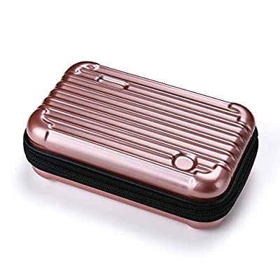 Makeup Bag Pouch Portable Cosmetic Bag Multifunction Hard Case Organizer Bag for Daily Necessities, On-The-Go Travel Gadget Organizer Unisex (PINK) from Flora jewel
