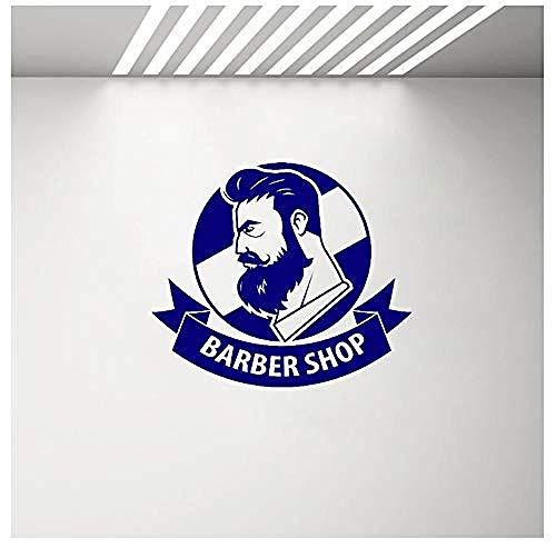 Pegatinas de pared de moda moderna pegatinas de pared personalizadas tienda de flores peluquería para hombres ventana de cartel con logotipo de cinta 66 * 57C m
