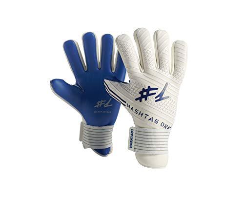#1 Hashtagone Endboss Blue Torwarthandschuhe für Erwachsene & Kinder - Größe 7 - entwickelt vom Torwart Bundesliga Profi - Tormannhandschuhe Herren, Kinder (Größe 7 Endboss Blue)