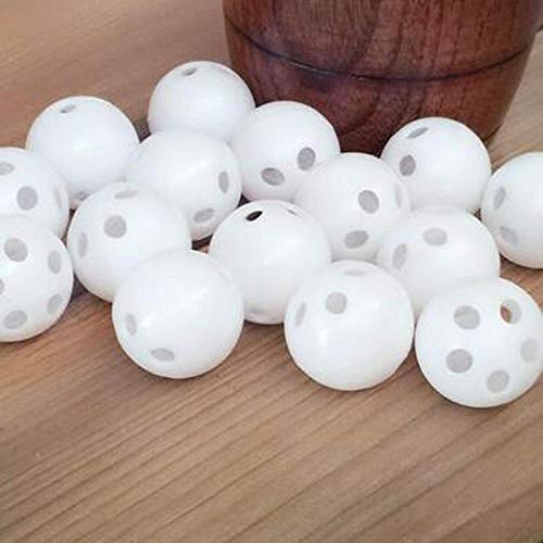 Generic 50pcs 100pcs 24mm white toy rattle ball repair replace noise maker box for toy bear doll Color White 100PCS