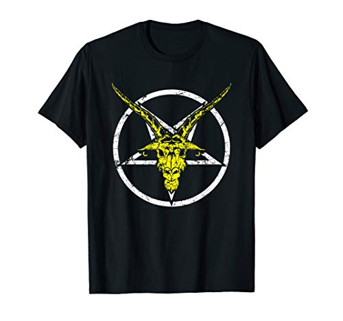 Satan Baphomet Evil Devil Occult Satanic Pentagram...