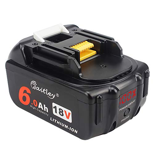 AOYAN-18V 6.0Ah Replacement Battery with LED Display Compatible with Makita BL1850B BL1850 BL1840 BL1830 BL1820 LXT-400 194204-5 Lithium-Ion 18Volt Cordless Tools