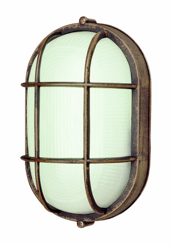 Trans Globe Lighting 41005 RT Transitional One Bulkhead Outdoor-Post-Lights, Rust