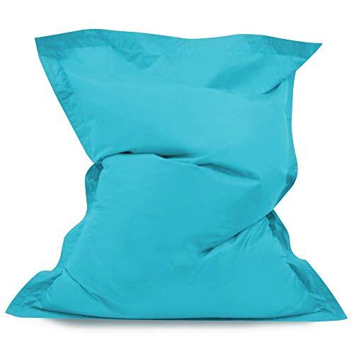 Bean Bag Bazaar Chaise Pouf Longue pour Enfants à 4 Positions de s'asseoir de Hi-BagZ - Coussins Pouf pour Usage extérieur - Pouf pour Enfants imperméable à 100% (Turquoise)