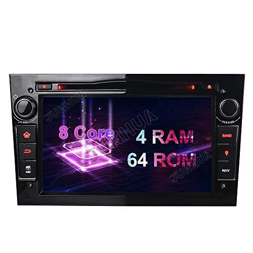 "Android 10 Octa-Core 4GB RAM+64GB ROM Carplay+Android Auto Autoradio DVD GPS Navigation 7\"" Radio DAB+ WiFi Bluetooth für Opel Vauxhall Astra H G Antara Vectra Corsa C D Zafira (Klavier Schwarz)"