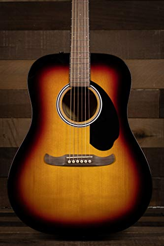 Fender FA-125 Dreadnought - Guitarra acústica, diapasón de nogal, Sunburst