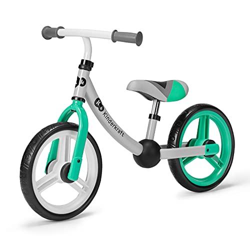 Kinderkraft Laufrad 2WAY NEXT, Lernlaufrad, Kinderlaufrad, Höhenverstellbarer Sattel und Lenker, 12 Zoll Räder, Metall, ab 2 Jahre, Modernes Design, Grün