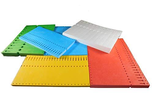 Creativ Papier Schlaufenetiketten 220 x 12,75 mm, weiss, 1.000 Stück, 105 g, gefalzt im Stapel, Traktorrand für Nadeldrucker, handbeschriftbar,, 505-2022121