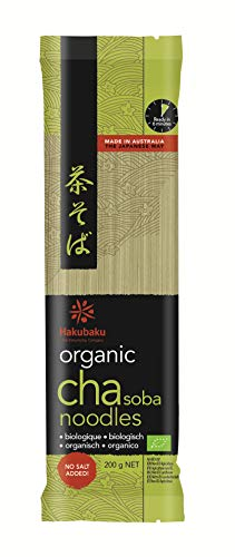 Hakubaku Japanische Bio Cha Soba Nudeln mit grünem Tee, 200 g