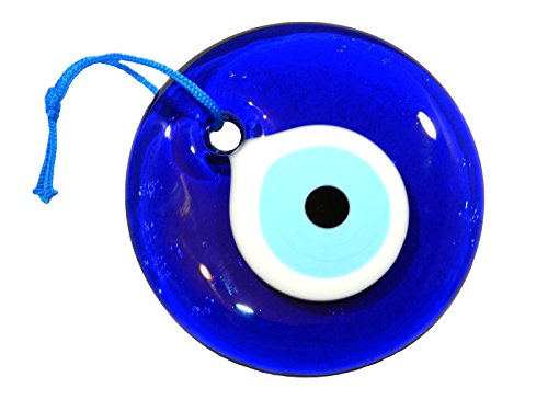 10 cm Lucky/Evil Eye Nazar Boncuk, Türkische, Griechische zum Aufhängen, Glas, Glücksbringer Schutz