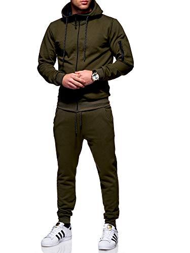 Rello & Reese Herren Trainingsanzug MA-1 Jogginganzug Sportanzug R-1131 [Khaki, M]