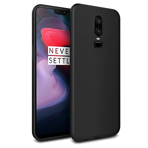 Winble Anti Slip Soft Flexible Ultra Matte Silicon Protective with Camera Protection Back Cover Case for OnePlus 6 / One Plus 6