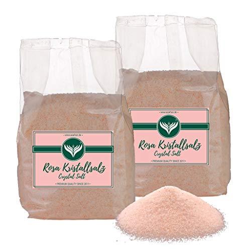 Azafran Rosa Kristallsalz (bekannt als Himalaya Salz) Steinsalz Ursalz fein 2kg