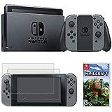 Nintendo Switch 32 Go Console avec Joy Con (HACSKAAAA) + Minecraft Bundle Inclus, Switch Minecraft et 2 Protections d'écran en Verre trempé