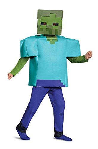 Disguise Zombie Deluxe Child Costume, Green, Medium/(7-8)