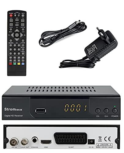 Strom 504M Decodeur TNT / Full HD 1080p / Décodeur /Terrestre / DVB-T2 / Haute définition Récepteur / Compatible avec HEVC 265 (HDMI, Péritel, USB, Digital Plus) HDMI Câble