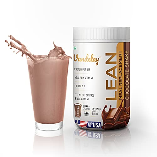 Vandelay Labs Slim Lean Shake – Meal Replacement Nutrition Chocolate Slim Shake – High Protein Powder Shakes – 31 Vitamins, Minerals, and Herbs – Ideal for Diet, Weight Loss, Control, and Management