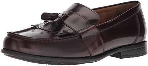 Nunn Bush Men Denzel Moc Toe Kiltie Tassel Slip-On Loafer with KORE Comfort Walking Technology, Burgundy, 10