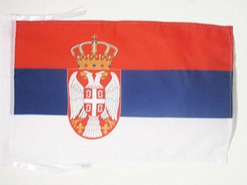 AZ FLAG Flagge SERBIEN 45x30cm mit Kordel - SERBISCHE Fahne 30 x 45 cm - flaggen Top Qualität