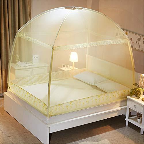 ZJUAN Pliage Grande Moustiquaire,pour L'intérieur Chambres à Coucher à La Maison De Lits, 3 Ouvertures Latérales Verrière De Lit A 150 * 200 * 170(cm)
