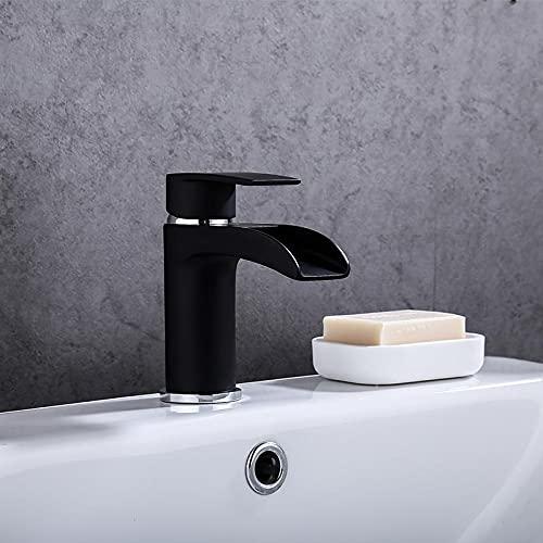 Grifos Para Fregadero Baratos grifos para fregadero de cocina Grifo de baño cuadrado negro Mezclador de lavabo de acero inoxidable Accesorios de baño Grifo Lavabo de baño