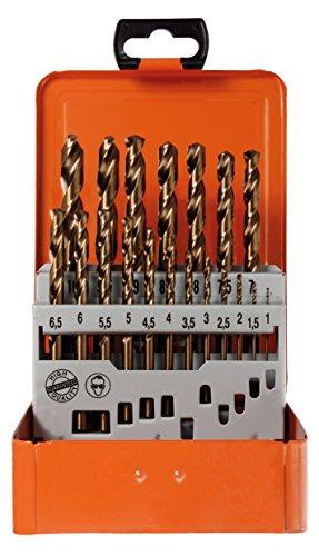 Preisvergleich Produktbild Projahn Spiralbohrer Kassette (19-teilig,  HSS-Co ECO Line,  cobaltlegiert,  Qualitätsstufe: Plus,  mit Zylinderschaft; je 1 Ø 1 10 mm um 0, 5 steigend) 60381