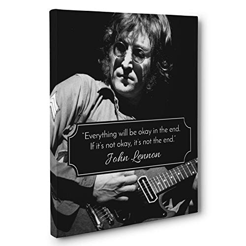 Not The End John Lennon Quote Canvas Wall Art