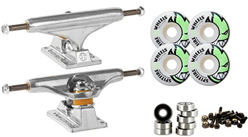 Independent Silver 139mm Truck 8.0  Package Skateboard Spitfire Wheels 53mm Abec 7 Bearings
