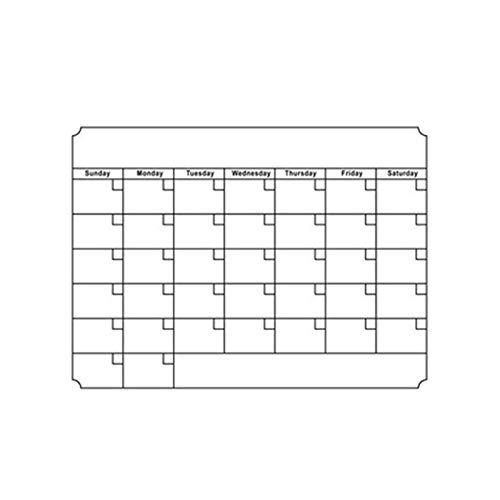 Star Supermarket magnetische koelkastkalender, mensplanner en actieplanner whiteboard, ideaal voor studie, testen, taken of diëten Medium wit