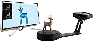 2019 Version EinScan-SE White and Light Desktop 3D Scanner,0.1 mm Accuracy, 700mm Cubic Max Scan Volume, 8s Scan Speed, Fixed/Auto Scan Mode, Lowest Cost Professional Level 3D Scanner