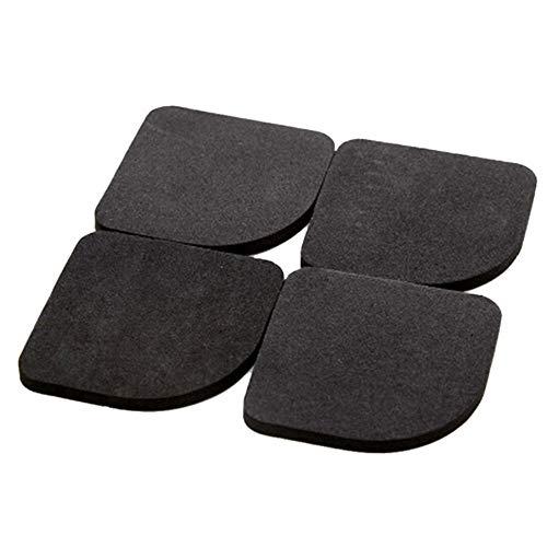 Benrise 4 paquetes de almohadillas de algodón para lavadora, a prueba de golpes, antideslizantes, para refrigerador, antivibración, universal, de goma