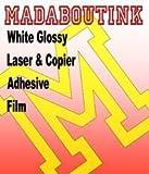 Blanc Glossy/copieur Laser &vinyle adhésif autocollant 5 feuilles A3