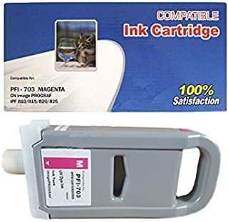 Vivid Colors Compatible Ink Cartridge Replacement for Canon PFI-703 PFI-703M 2965B003AA (Magenta) for Use Canon iPF810, iP...