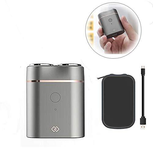 Elektrisch scheerapparaat voor mannen, mini-draagbare scheerapparaat met aanraakplug en wasfunctie, IPX7 waterdicht snelscheerapparaat voor in de auto, cadeau voor mannen