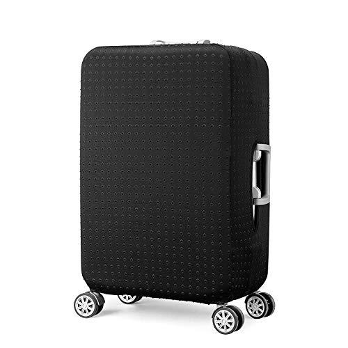 Elástico Funda Protectora de Maleta Cubierta de Equipaje de Viaje Maleta Funda Protectora Luggage Cover, Negro (L)