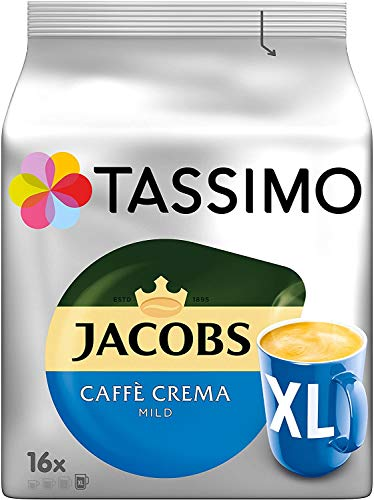 TASSIMO Jacobs Caffe Crema XL Kaffeepads - 10 Packungen (160 Getränke)