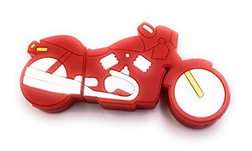 H-Customs PA - Memoria USB 3.0 (64 GB), diseño de motocicleta en color rojo