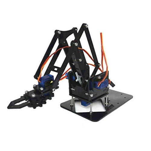 Kit de montaje manual de brazo robótico para niños y adultos con accesorios montados en tutoriales
