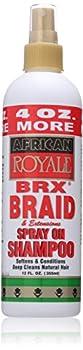 African Royale Brx Braid Spray On Shampoo 12 Fl Oz