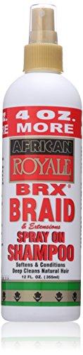 African Royale Brx Braid Spray On Shampoo, 12 Fl Oz