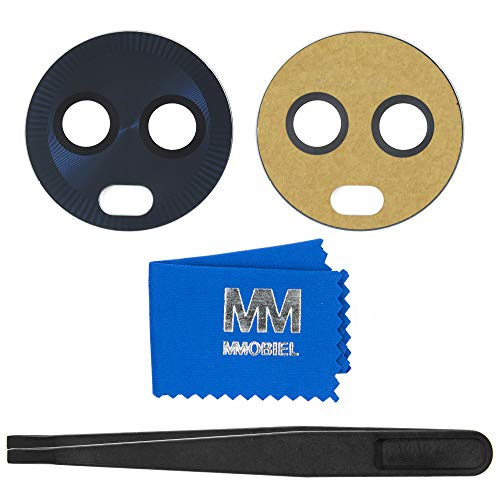 MMOBIEL Glas Linse von Hauptkamera Back Kamera Set Ersatz kompatibel mit Motorola Moto X4-5.2 inch (Super Black/Schwarz) mit Pinzette und Tuch