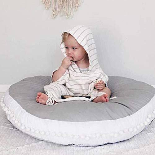Fyore Baby Cotton Crawling Play Mats Game Blanket Floor Mats Round Cushion Soft Crawling Pad for Play Crawling Sleeping