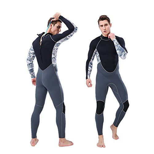 Trajes mojados de buceo Hombre traje de neopreno de 2 mm de 2 mm dividido con capucha Traje de buceo Traje de neopreno Surf Traje para hombre Jóvenes Cuerpo completo Trabajo para Hombres Agua fría Atr