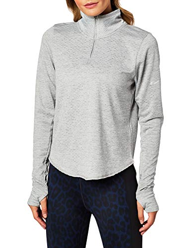 Nike W Nk Sphr Elmnt Top Hz, T-Shirt A Manica Lunga Donna, Particle Grey/Grey Fog/Htr/Reflective Silv, XS