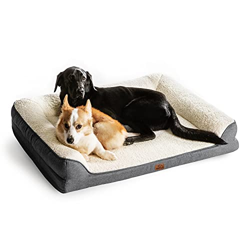 BEDSURE Orthopedic Dog Bed Extra Large - Memory Foam Couch Dog Sofa with Removable Washable Cover& Nonskid Bottom, 106x81x18cm